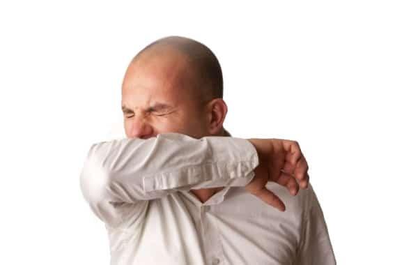 Sneezing Into Elbow