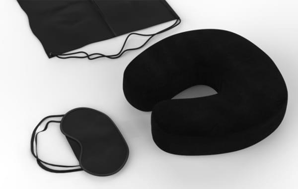 Black Travel Pillow