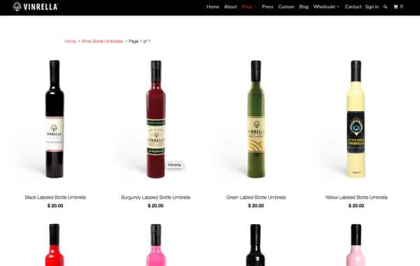 Vinrella Website