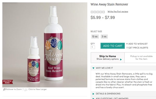 Wine Away Product